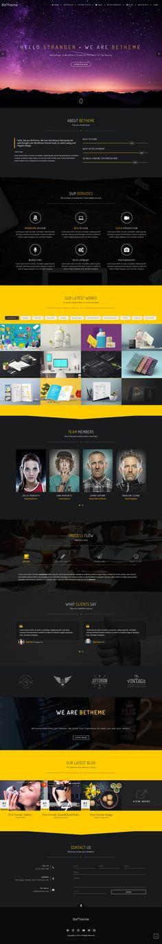 BeOnePage - Creative WordPress Theme by BeTheme on @creativemarket