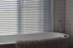 Imitation Timber Venetian Blinds, suitable for wet areas like Bathrooms