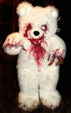 """Teddy- So very simple by visiting a thrift store for the Teddy. Why is the song """"Radioactive"""" now in my head?"""