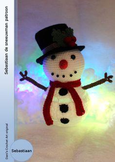 Sebastiaan de sneeuwman patroon, Dani's Crochet Art