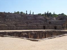 Anfiteatro de la antigua ciudad romana de Itálica (Santiponce, Sevilla)