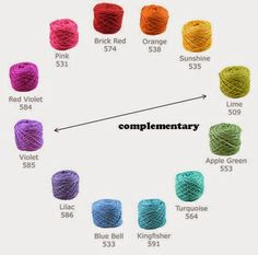 Selecting Yarns that Go Together (Complementary Colors)