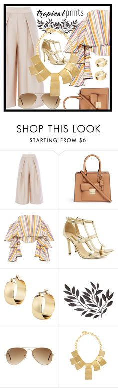 """""""Untitled #365"""" by designer-mae on Polyvore featuring Michael Kors, Caroline Constas, Dee Keller, Ray-Ban and Kenneth Jay Lane"""