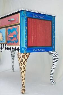 Furniture Painted Funky Art | Pigment of the Imagination™