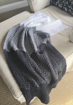 A personal favorite from my Etsy shop https://www.etsy.com/listing/247341923/hand-knit-crochet-afghan-throw-modern