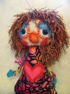 Arnie  an OOAK soft sculpture art doll by alittlecatty on Etsy, $38.00