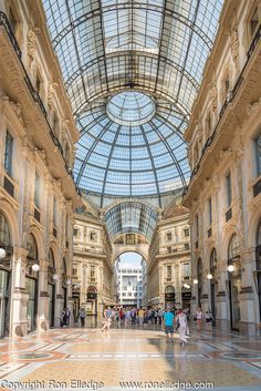 Galleria Vittorio Emanuele ll is located in Piazza del Duomo, Milano, Italy. It is one of the world's oldest shopping malls, It was designed in 1861 and built by Giuseppe Mengoni between 1865 and 1877.