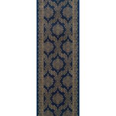 "Meridian Rugmakers Sundargarh Blue Area Rug Rug Size: Runner 2'2"" x 12'"