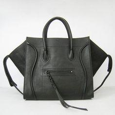 Celine Boston Square Calfskin Bag Black - Women handbags,bags,purses,tote