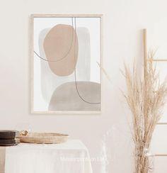 Beige Art, Neutral Art, Grey Art, Grey Wall Art, Paredes Color Pastel, Murs Pastel, Minimalist Painting, Minimalist Artwork, Modern Artwork