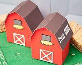 BARN Favor Box - DIY Printable