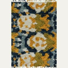 Fable Marine Blue and Gold Rug from The Jungalow