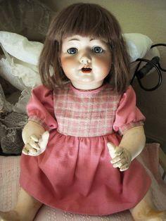 Schildkröt Puppenkleidung-auch für alte Puppen-Kleid-altrosa-Leinen-50-55cm…
