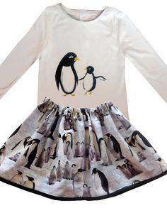 4da49b60dd841 Girl s Penguin Skirt   Christmas Clothing