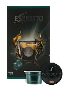 Espresto Passionato Espresso www.home.co.za Available in all @home and @homelivingspace stores