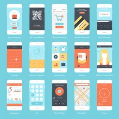 Mobile apps are not a trend, they're here to stay and are a necessity for e-commerce. Business owners ignore mobile apps at their risk and here's why. Mobile Ui, Mobile Shop, Mobile App Design, Mobile Phones, Application Design, Mobile Application, Web Design, Graphic Design, Flat Design
