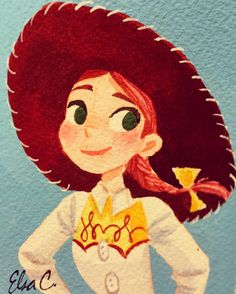 Jessie the yodeling cowgirl 🌵🐴by http://elasmosaurus.tumblr.com/