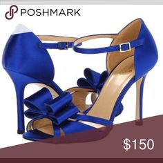 c126f5ff423a Kate Spade New York Ivela Cobalt Satin - Zappos Couture