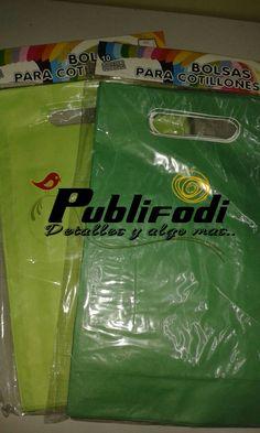 Bolsas de papel tono verde
