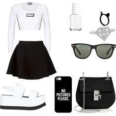 Untitled #18 by ryley12 on Polyvore featuring polyvore fashion style Neil Barrett Joseph Chloé Ray-Ban Casetify Essie