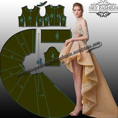 Sewing Dress, Dress Sewing Patterns, Sewing Clothes, Clothing Patterns, Diy Clothes, Diy Dress, Ruffle Dress, Dress Skirt, Princess Dress Patterns