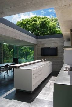 Open-air The House in Highgate Cemetery is designed by Eldridge Smerin and is located in // Photo by Lyndon Douglas - Architecture and Home Decor - Bedroom - Bathroom - Kitchen And Living Room Interior Design Decorating Ideas -