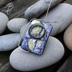 polymer jewelry - Martina Buriánová a combination of my techniques Perseids and Ragstone Polymer Clay Pendant, Polymer Clay Jewelry, Clay Art, Montage, Jewelry Art, Biscuit, Craft Projects, Addiction, Pendants