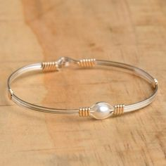 ronaldo silver with gold pearl of my heart bracelet $63