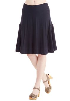 At the Racquet of Dawn Skirt in Navy | Mod Retro Vintage Skirts | ModCloth.com