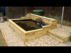 Easy build ,raised wooden pond. - YouTube