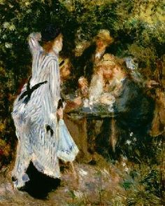 Pierre-Auguste Renoir - In the Garden, or Under the Trees of the Moulin de la Galette