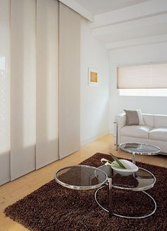 clean lines with panel curtains and hidden rail