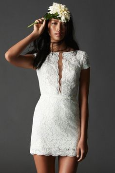 Short Wedding Dresses: Watters #shortweddingdresses