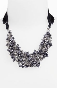 Nina+'Melaney'+Ribbon+&+Cluster+Bib+Necklace+available+at+#Nordstrom