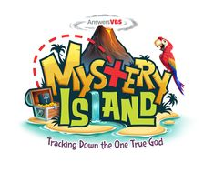 Mystery Island is AiG's VBS 2020 - Tracking down the one true God and uncover the truth about our Creator God. Christian Flag, Genesis Bible, Vbs Themes, Lord Of Hosts, Vacation Bible School, Bible For Kids, Kids Logo, New Testament