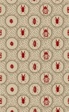 via BKLYN contessa :: holly trill :: beetle pattern :: art print on cotton rag archival paper :: $50