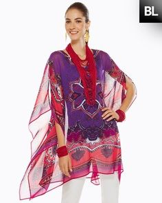 Black Label Paisley Printed Poncho  Style: 570072692 - Chico's