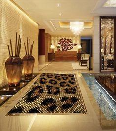 Custom photo wallpaper/mural PVC floor wallpaper/3d wallpaer/Fashion leopard spelling/Bathroom/Toilet/ KTV/hotel/Living Room