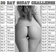 The 30 Day Squat Challenge Plus. The 30 Day Squat Challenge has been a hit around the internet World and has been responsible for shaping some awesome butts. We've took the great workout and added a twist! Fitness Herausforderungen, Fitness Motivation, Sport Fitness, Fitness Workouts, Health Fitness, Butt Workouts, Squat Workout, Easy Workouts, Fitness Quotes