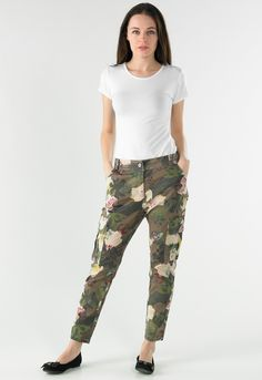 Floral Print Combat Jean - Womens Clothing Sale, Womens Fashion, Cheap Clothes Online   Miss Rebel