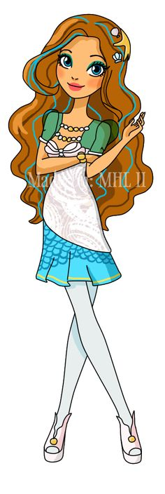 This is Shelly Ocean, she is 16 years old. She is the daughter of the Little Mermaid, she is definitely a royal.