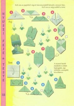 Resultado de imagen para origami little rabbit bunny instructions