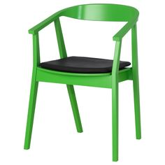 STOCKHOLM Chair with chair pad - green/dark brown - IKEA $178