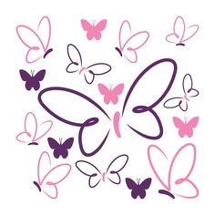 Vinilo Decorativo Mariposas De Colores Butterfly Drawing, Butterfly Crafts, Rock Crafts, Diy And Crafts, Clip Art, Disney Drawings, Doodle Art, Easy Drawings, Cute Wallpapers
