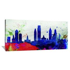 Naxart 'Philadelphia City Skyline' Painting Print on Wrapped Canvas Size:
