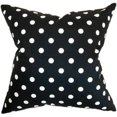 Add a pop of pattern to your sofa, bed, or windowseat with this charming black and white pillow.   Product: PillowConstruc...