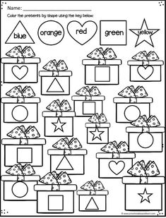 Kids will have fun practing math, alphabet, and literacy skills with these super cute, FREE Christmas Worksheets for Preschoolers! Free Printable Christmas Worksheets, Christmas Worksheets Kindergarten, Preschool Christmas Activities, Preschool Printables, Preschool Lessons, Preschool Worksheets, Preschool Assessment, Montessori Activities, Christmas Math