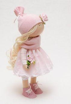 Bella muñeca hecha a mano muñeca-textil por BroderieLittleCorner