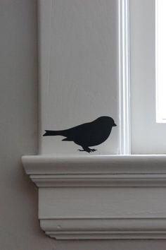 This is the Ferm Living Test Bird that you always get when you buy a wall sticker from them. Bird Silhouette, Silhouette Cameo Projects, Free Silhouette, Bird Wall Decals, Wall Stickers, Wall Mural, Vinyl Decals, Wall Art, Vinyl Crafts