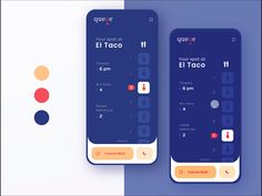 🍽️Restaurant Waitlist Mobile App - Expolore the best and the special ideas about Interface design Ui Design Mobile, Design Ios, Game Ui Design, Dashboard Design, Icon Design, Graphic Design, Interface Design, User Interface, Wireframe Mobile